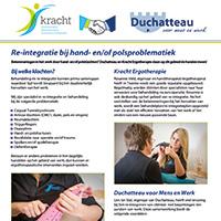 Re-integratie bij hand- en polsproblematiek